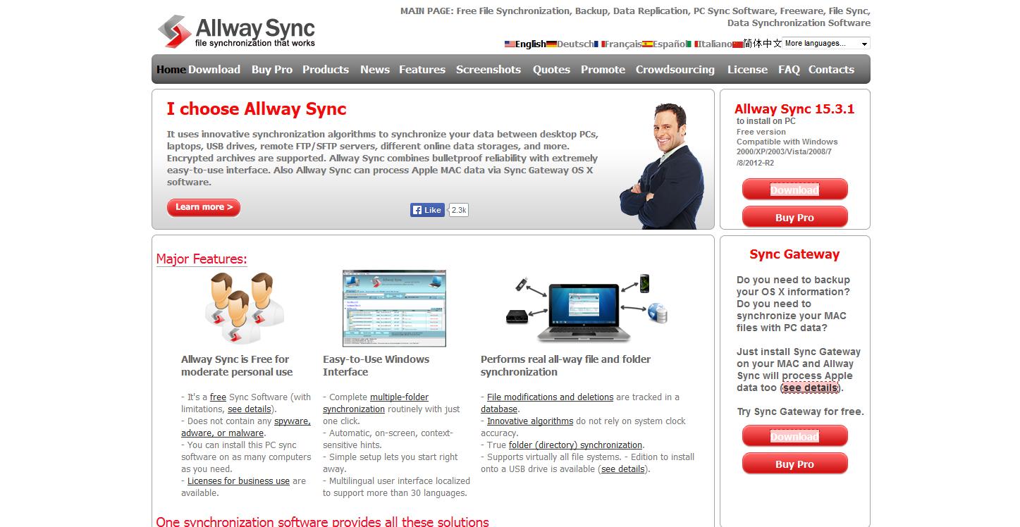 daten synchronisieren freeware