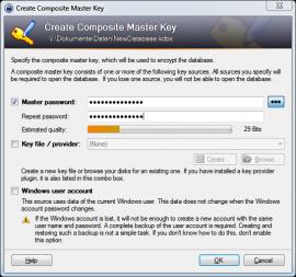 Passwort Datenbank anlegen